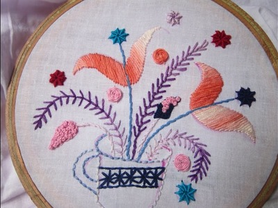 Hand Embroidery Desings | Flower Cup | Stitch and Flower-83