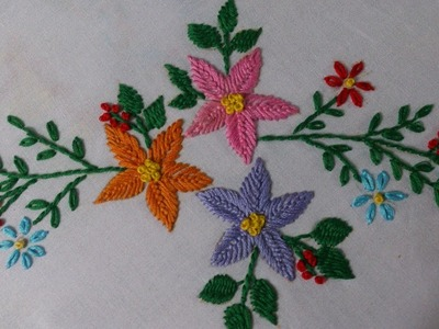 Hand embroidery stitches tutorial. Hand embroidery designs (kashmiri stitch).