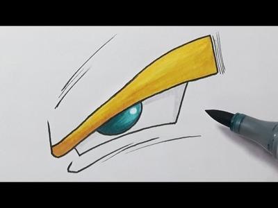 How to Draw a Dragon ball Z Eye - Step by Step