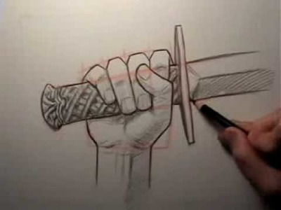How to Draw a Hand Holding a Sword