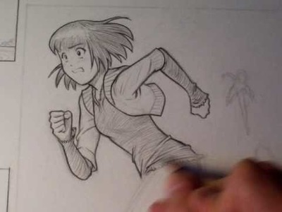 """How To Draw a Manga Figure in Motion (""""Miki Falls"""")"""
