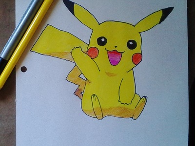 How to draw pikachu Step by Step - como dibujar a pikachu paso a paso - pokémon go