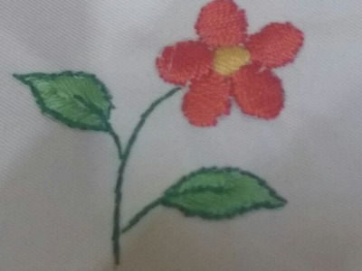 How to Make Hand Embroidery Flower - Embroidery Projects - Tutorial .