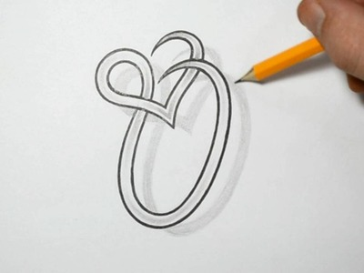 Letter O and Heart Combined - Tattoo Design Ideas for Initials
