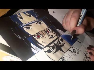 Naruto - Sasuke Speed Drawing - Part 3