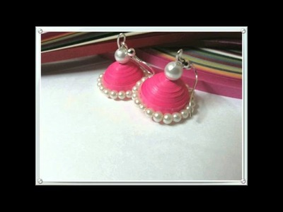 Quilling earrings new designs - quilling earrings turorials