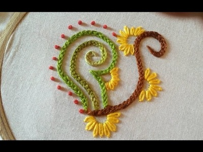 Quilling Made Easy : Hand Embroidery: Beautiful  Braided Chain Stitch  Design