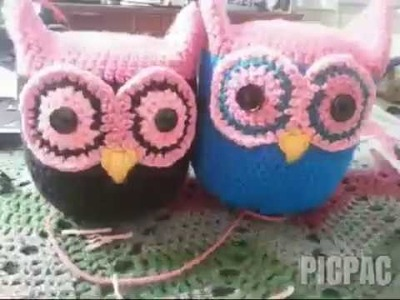 Amigurumi Owl in half-double crochet