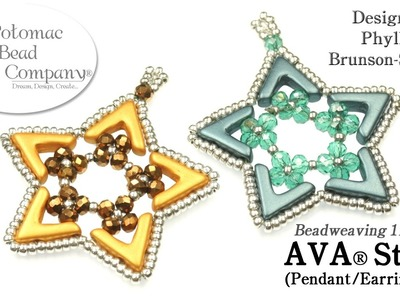 AVA Star (Pendant or Earrings) DIY Tutorial