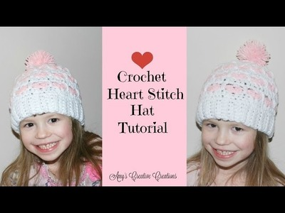 Crochet Heart Stitch Hat Tutorial Part 1