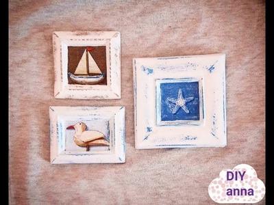 Decoupage vintage sea souvenirs DIY shabby chic ideas decorations craft tutorial
