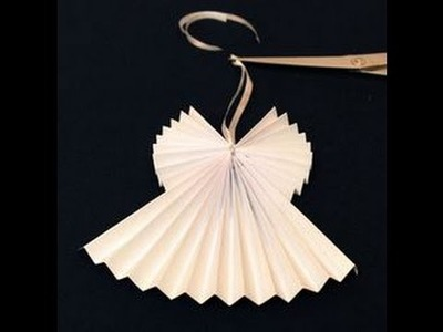 DIY ACCORDION 3D PAPER ANGEL Christmas decoration, USING 1 PAPER ONLY, EASY