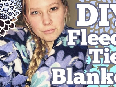 DIY Fleece Tie Blanket! No Sewing!