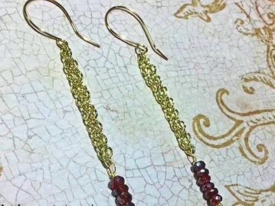 DIY Linear Minimalist Chain Tassel Earrings by Denise Mathew