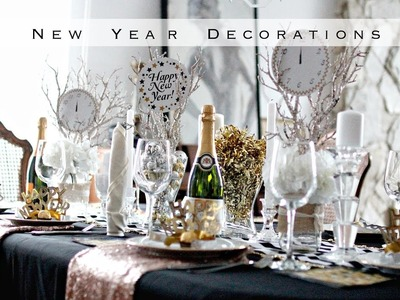 DIY New Years Decorations - EASY BLACK & GOLD Theme!