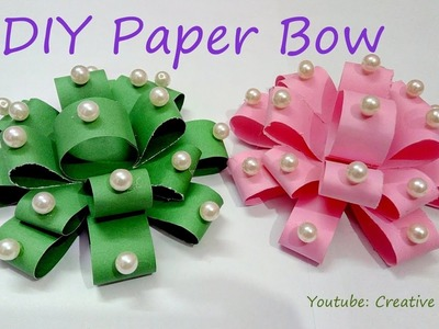 DIY Paper Bow: How to make paper bow in just few minutes at home I Creative Diaries