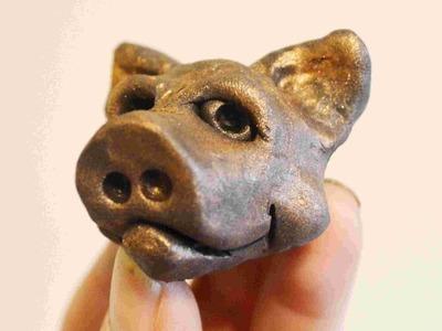 DIY Pig Face Sculpt In Polymer Clay - Mini Tutorial