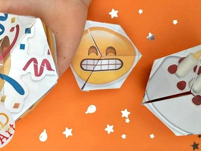 Emoji Kaleidoscope - PARTY Paper Craft - New Year's Eve DIY - Birthday Emoji DIY