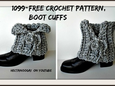 FREE CROCHET BOOT CUFF PATTERN, laced boot cuffs - #1099yt, Easy Beginner pattern