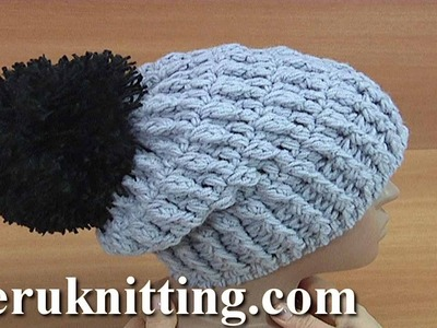 How to Crochet Beanie with Lapel Tutorial 167 Crochet Hats Pattern