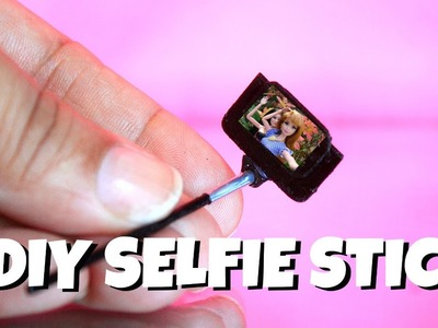 How to make a miniature Selfie Stick with phone | NO Polymer!