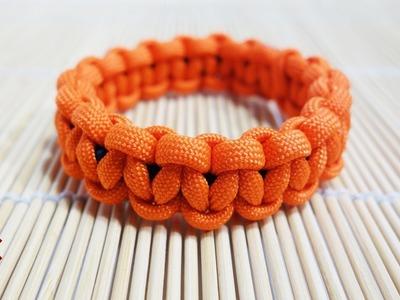 How to Make an Elastic Solomon Knot Paracord Bracelet Tutorial