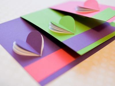 How to Make - Greeting Card Valentine's Day Hearts - Step by Step DIY | Kartka Walentynki Serca