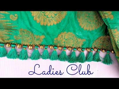 How to make Krosha. Crochet Saree Tassels using Silk Thread, Beads and Kuchu at Home   Tutorial !