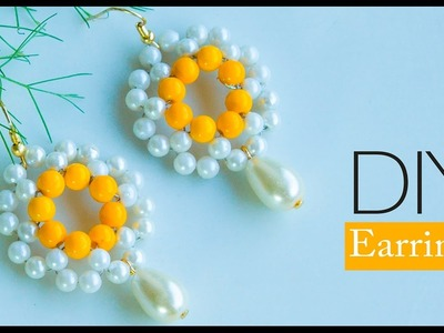How to make pearl earring | make fast and easy earring |  DIY Pearl jewelry
