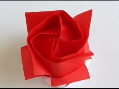 How to make rose with paper - In 10 minutes