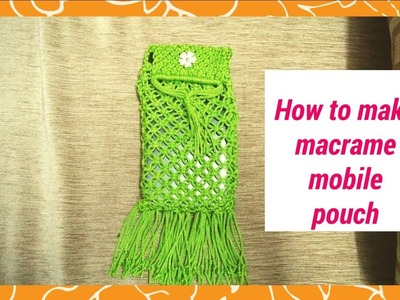 Macrame mobile cover | macrame mobile pouch | how to make macrame mobile case cover
