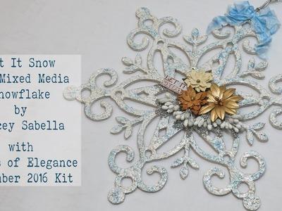Scraps of Elegance November 2016 Kit ~ DIY Mixed Media Home Decor Textured Snowflake   Kaisercraft