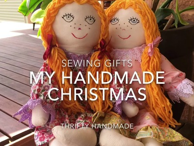 SEWING VLOG ~ My Handmade Christmas Gifts for 2016, Sewing and Crochet.