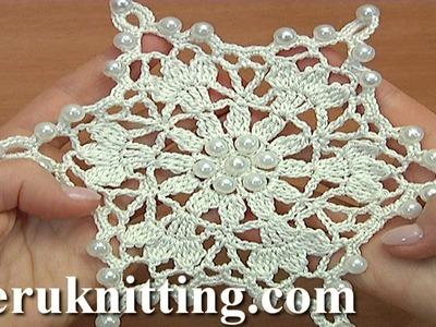 Crocheted Snowflake For Christmas Tree Tutorial 34