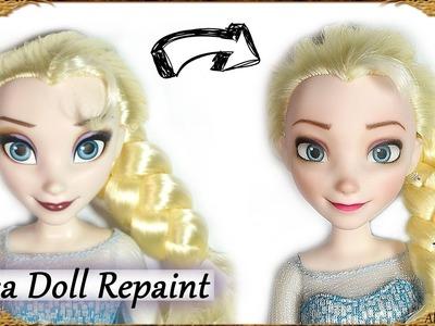 DIY Elsa Makeover - Frozen Disney Doll Repaint Tutorial