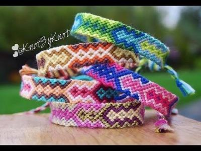 DIY How to make an Aztec style friendship bracelet Step by Step tutorial | boho | Creative Twins