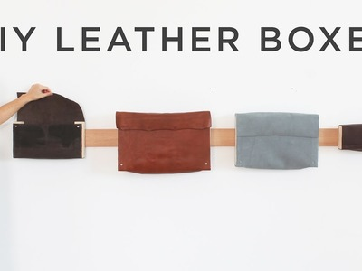 DIY Leather Boxes
