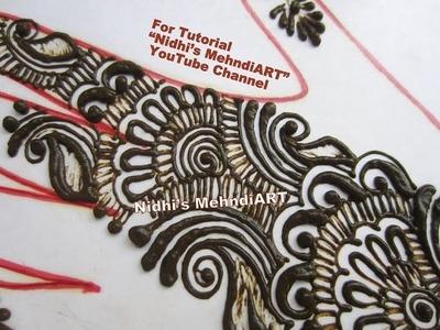 Easy DIY Arabic Strip Henna Mehndi Design for Back Hand Tutorial