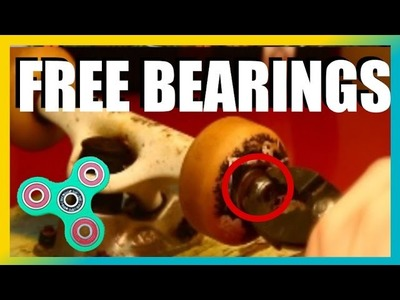FREE BEARINGS for hand spinners! | Cheap Fidget toys tutorial (DIY)
