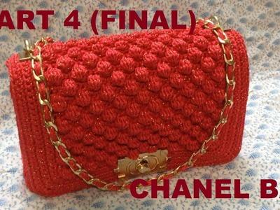 How to Crochet Bag CHANEL part 4 - Hướng dẫn móc túi xách CHANEL P4