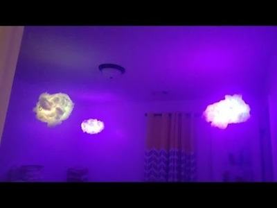 How to make a CLOUD night light simple DIY