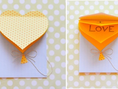 How to Make - Greeting Card Valentine's Day Heart - Step by Step DIY | Kartka Walentynki Serce