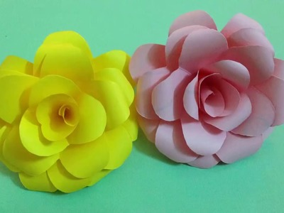How to make rose paper flower  Easy origami flowers for beginners making  DIY Paper Crafts