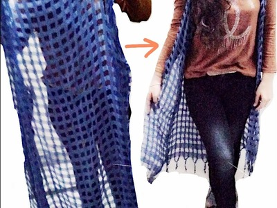 How to make shrug with old dupatta |D.I. Y| No sew|