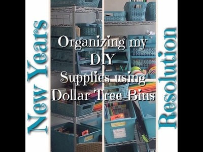Organizing my DIY & Crafting supplies using Dollar Tree Bins
