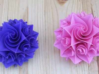 Origami Flower for Cards: How to make Amazing Paper Rose Step by Step Handmade Crafts