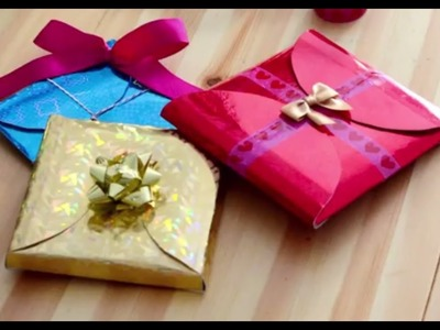 Paper Crafts: How to make cheap, quick and easy Gift Wrapping in 5 minute, Step by Step