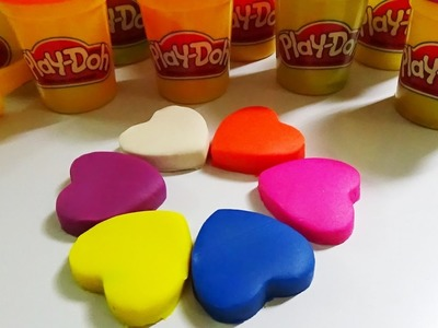 Play Doh DIY How To Make Heart clay Play Doh Learn number colors for kid