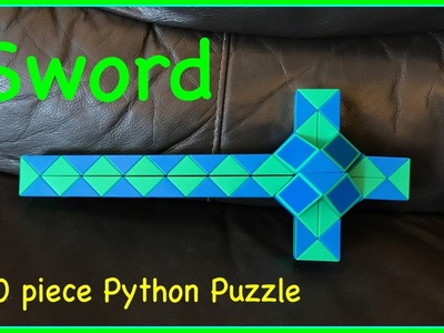 Smiggle Python Puzzle or Rubik's Twist 60 Tutorial: How to Make a Sword Step by Step