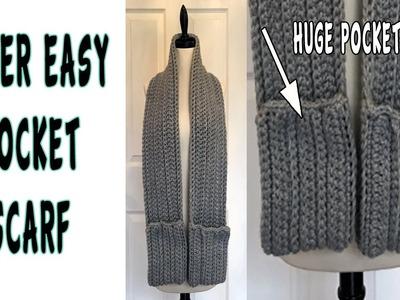 Super Easy Pocket Super Scarf Crochet Tutorial